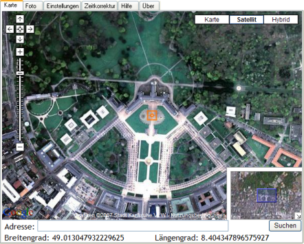 locr GPS Photo - Manuelles Geocodieren