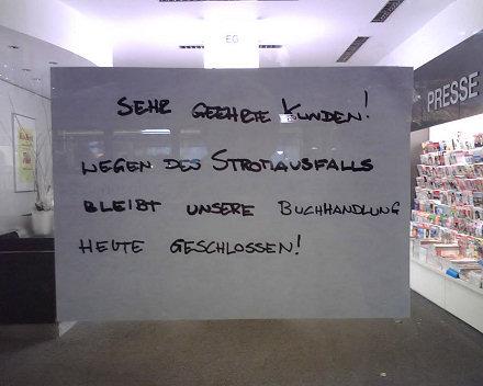 Stromausfall in Karlsruhe - Buch Kaiser geschlossen