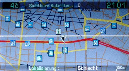 RT3 NaviDrive mit Radarfallen in Karlsruhe