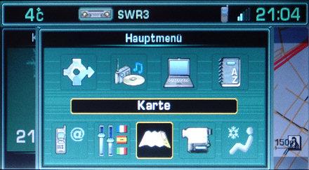 RT3 Hauptmenü - Karte