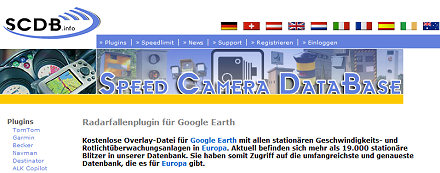 SCDB.info European Speed Camera DataBase