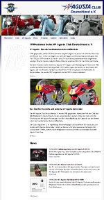 Homepage des MV Agusta Club Deutschland e.V.